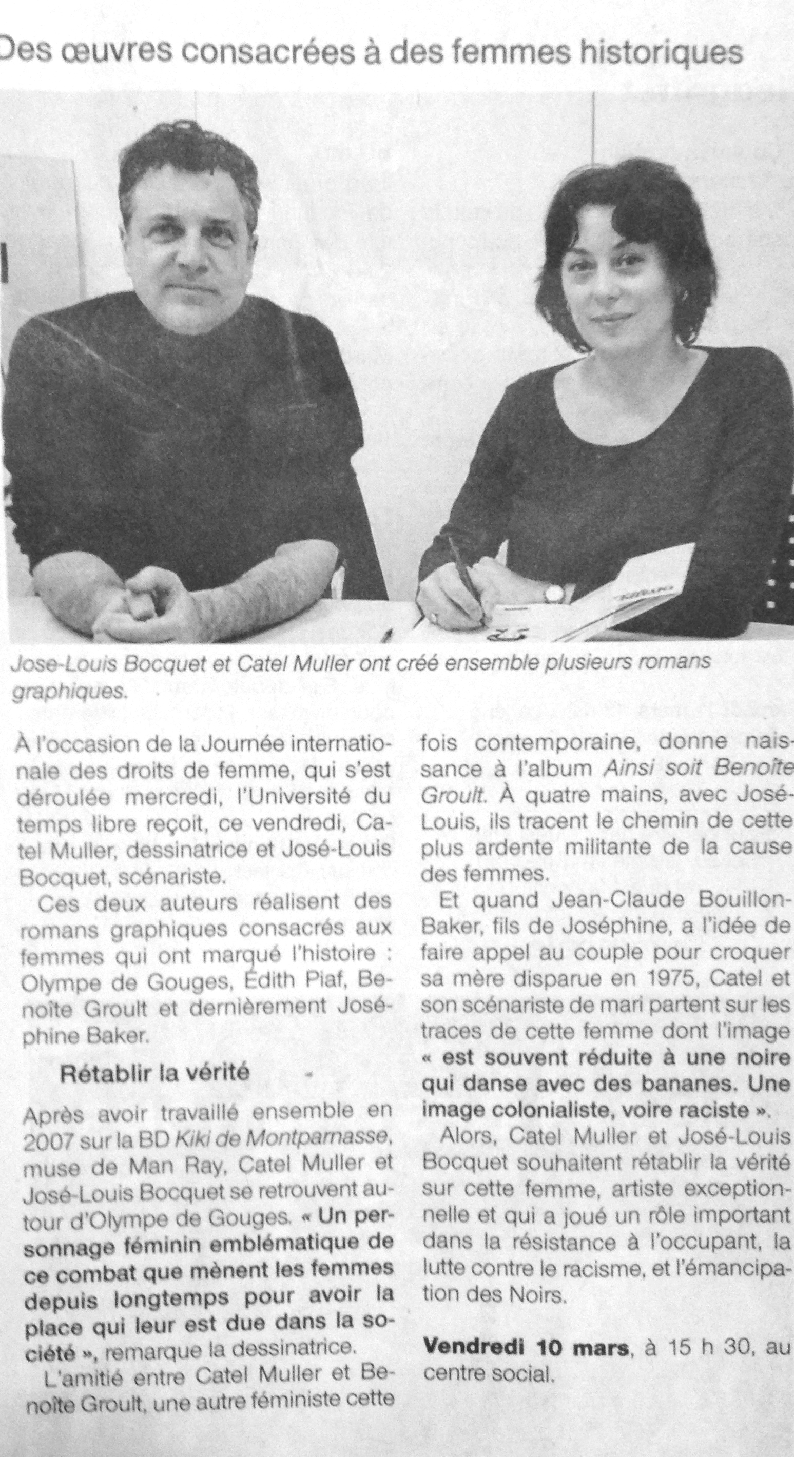Article du journal Ouest France