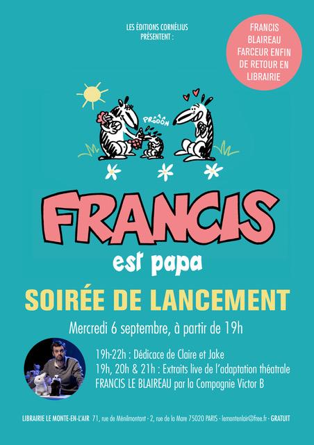SOIREE DE LANCEMENT FRANCIS _ Cornélius 6 SEPTEMBRE