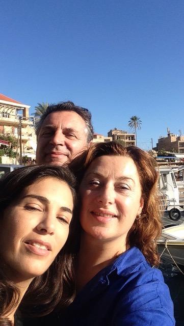 avec notre libraire Rania Stephan qui nous a emmenés visiter Byblos , fondée 5000 ans avant J.-C.